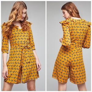 Anthropologie Seen Worn Kept Yellow Elm Romper